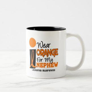 Leukemia I WEAR ORANGE FOR MY NEPHEW 9 Coffee Mugs