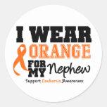 Leukemia I Wear Orange For My Nephew Stickers