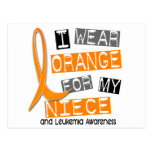 Leukemia I Wear Orange For My Niece 37 Post Cards