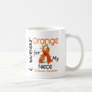 Leukemia I Wear Orange For My Niece 43 Mug