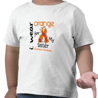 Leukemia I Wear Orange For My Sister 43 T-shirt