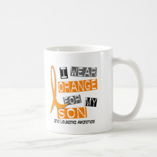 Leukemia I Wear Orange For My Son 37 Coffee Mug