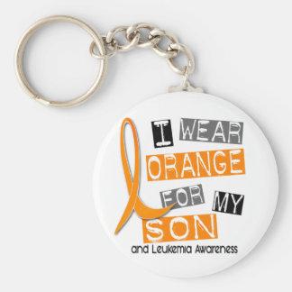 Leukemia I Wear Orange For My Son 37 Keychain