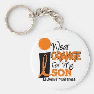 Leukemia I WEAR ORANGE FOR MY SON 9 Keychain