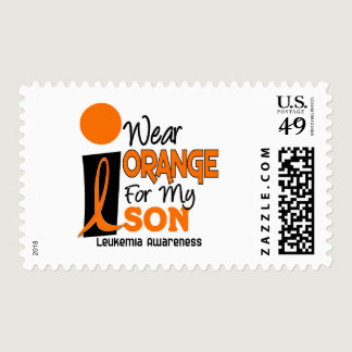 Leukemia I WEAR ORANGE FOR MY SON 9 Postage