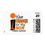 Leukemia I WEAR ORANGE FOR MY SON 9 Stamps