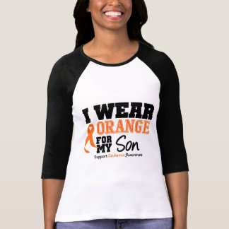 Leukemia I Wear Orange For My Son Tee Shirt