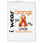 Leukemia I Wear Orange For My Uncle 43 Greeting Cards