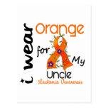 Leukemia I Wear Orange For My Uncle 43 Postcard