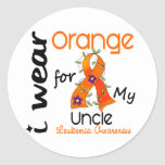 Leukemia I Wear Orange For My Uncle 43 Stickers