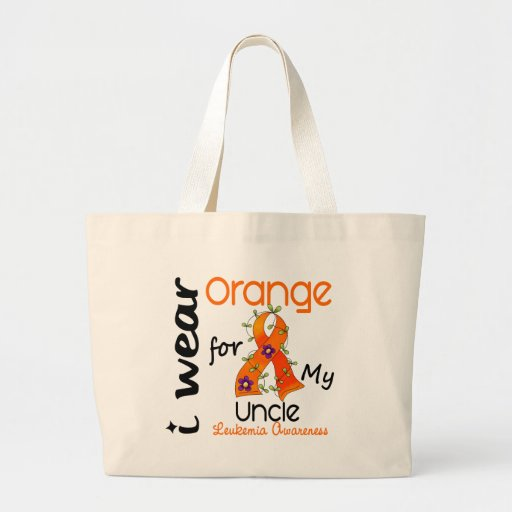 Leukemia I Wear Orange For My Uncle 43 Tote Bags