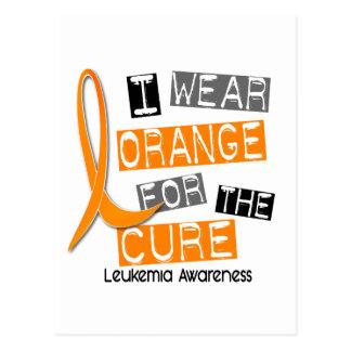 Leukemia I Wear Orange For The Cure 37 Postcard