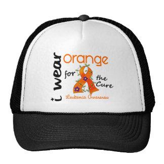 Leukemia I Wear Orange For The Cure 43 Trucker Hat