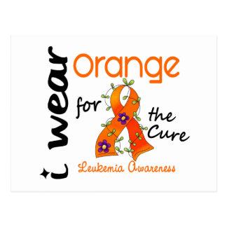 Leukemia I Wear Orange For The Cure 43 Postcard