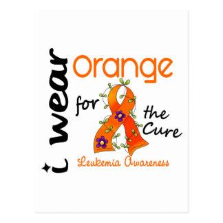 Leukemia I Wear Orange For The Cure 43 Post Card