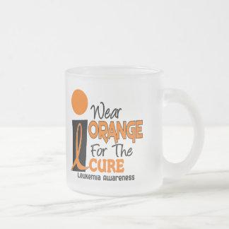 Leukemia I WEAR ORANGE FOR THE CURE 9 Mugs