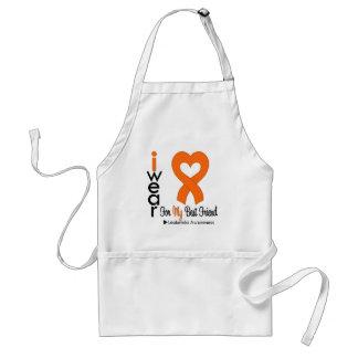Leukemia I Wear Orange Heart Ribbon BEST FRIEND Adult Apron