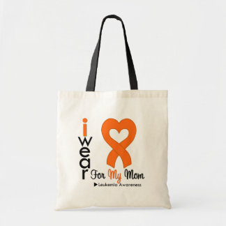 Leukemia I Wear Orange Heart Ribbon For My Mom Tote Bag