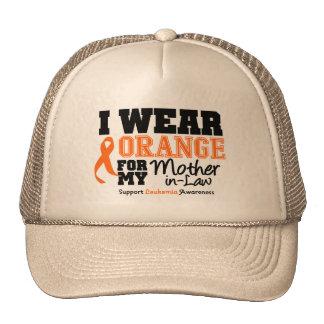 Leukemia I Wear Orange Mother-in-Law Mesh Hats