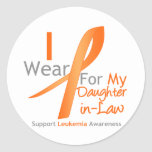 Leukemia I Wear Orange Ribbon Daughter-in-Law Sticker