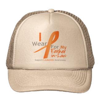 Leukemia I Wear Orange Ribbon Father-in-Law Trucker Hat