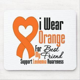 Leukemia I Wear Orange Ribbon For My Best Friend Mouse Pad