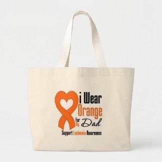 Leukemia I Wear Orange Ribbon For My Dad Tote Bags