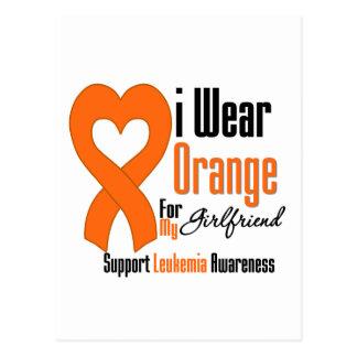 Leukemia I Wear Orange Ribbon For My Girlfriend Postcard