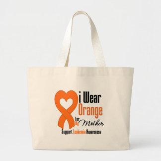 Leukemia I Wear Orange Ribbon For My Mother Canvas Bags