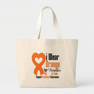 Leukemia I Wear Orange Ribbon For My Mother-in-Law Canvas Bag