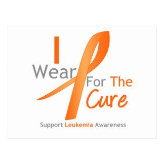 Leukemia I Wear Orange Ribbon For The Cure Postcard
