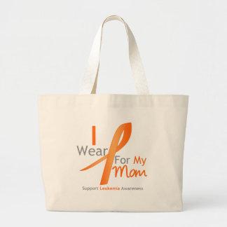 Leukemia I Wear Orange Ribbon Mom Bags