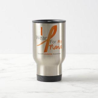 Leukemia I Wear Orange Ribbon Nana Coffee Mug