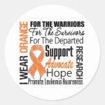 Leukemia I Wear Orange Ribbon TRIBUTE Stickers