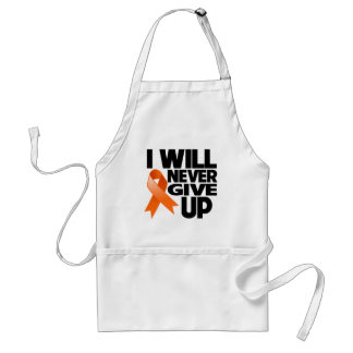 Leukemia I Will Never Give Up Adult Apron