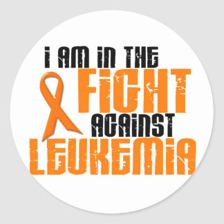 LEUKEMIA In The Fight 1 Round Stickers
