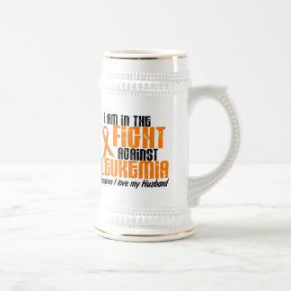 LEUKEMIA In The Fight For My Husband 1 18 Oz Beer Stein