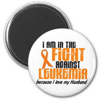 LEUKEMIA In The Fight For My Husband 1 2 Inch Round Magnet