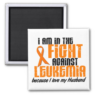 LEUKEMIA In The Fight For My Husband 1 2 Inch Square Magnet