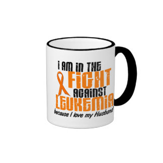 LEUKEMIA In The Fight For My Husband 1 Ringer Coffee Mug