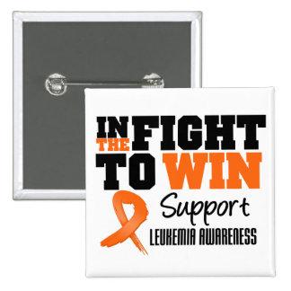 Leukemia In The Fight To Win 2 Inch Square Button