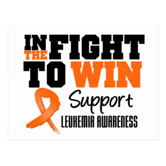 Leukemia In The Fight To Win Postcard