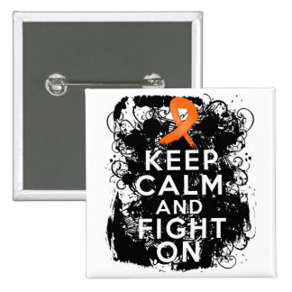 Leukemia Keep Calm and Fight On Pin
