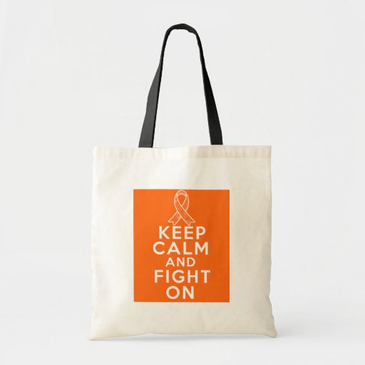 Leukemia Keep Calm and Fight On Canvas Bags