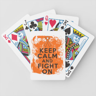 Leukemia Keep Calm and Fight On Bicycle Playing Cards