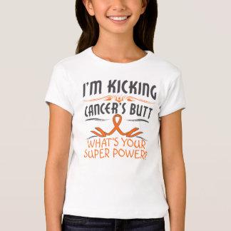 Leukemia Kicking Cancer Butt Super Power T-Shirt