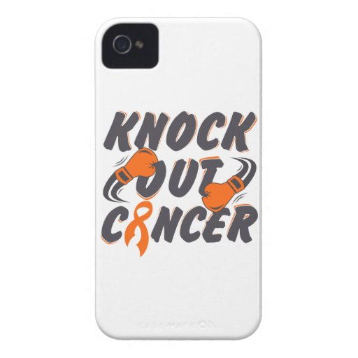 Leukemia Knock Out Cancer iPhone 4 Case