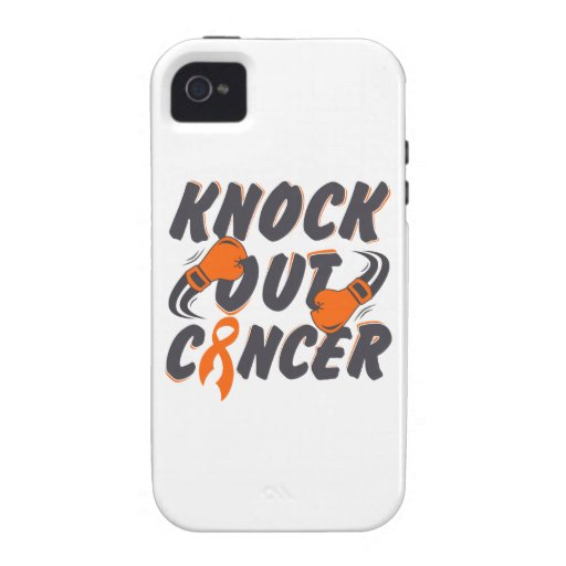 Leukemia Knock Out Cancer iPhone 4/4S Cases