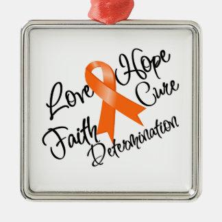 Leukemia Love Hope Determination Metal Ornament