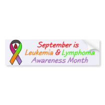 Leukemia & Lymphoma Awareness Month Bumper Sticker
